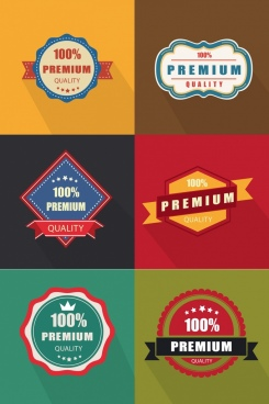 quality tags templates colored retro geometric design