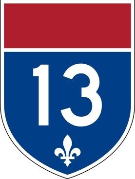 Quebec Autoroute clip art