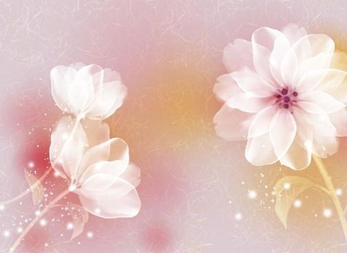 quietly elegant flower vector illustration