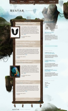 quotavatarquot style blog template psd layered