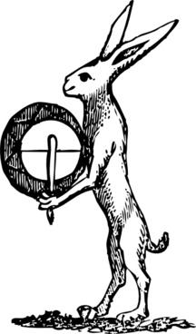 Rabbit With Drum clip art