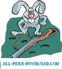 Rabbit with Gun