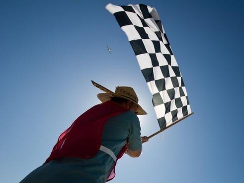race aircraft sky