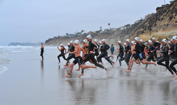 race into ocean