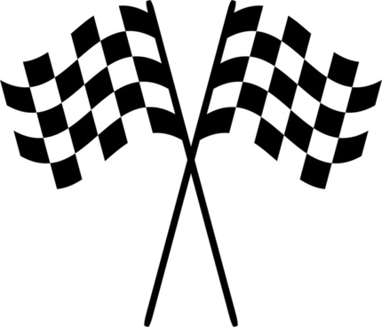 racing checkered flags vector illustration