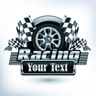racing poster creative vector