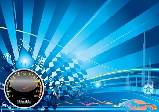 racing theme background pattern vector