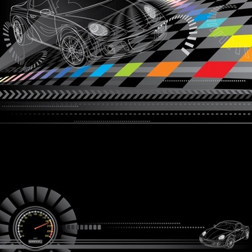 racing theme background vector