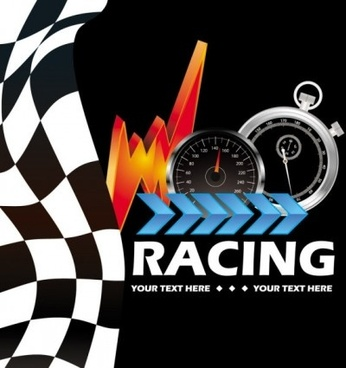 racing theme elements background pattern vector