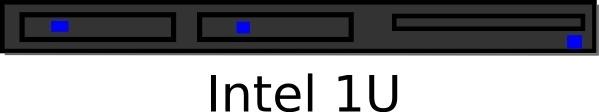 Rack Mount U Server clip art