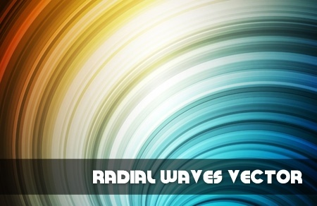 radial waves background shiny colorful curves design