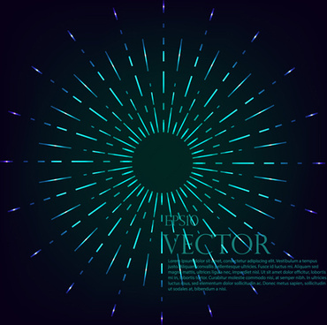 radiation effects circle vector background