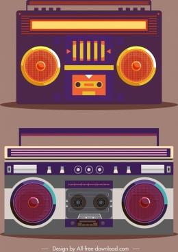 radio model icons classical dark flat design