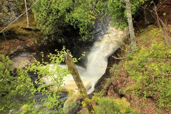 raging waterfalls at cascade river state park minnesota