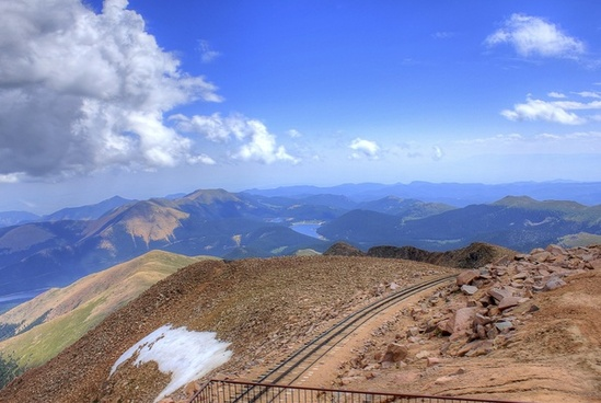 railcar tracks at pikes peak colorado