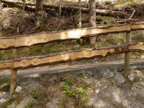 railing wood battens