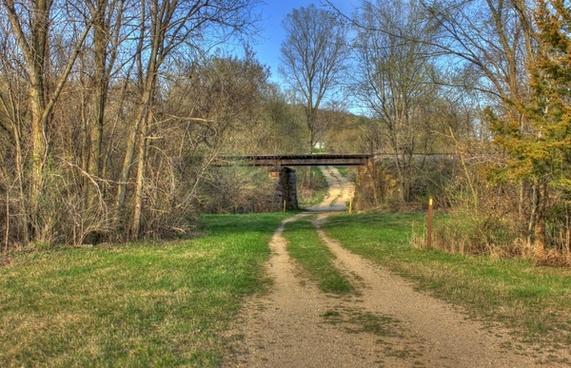 railroad bridge on the ice age trail wisconsin