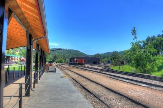 railroad tracks in the black hills south dakota
