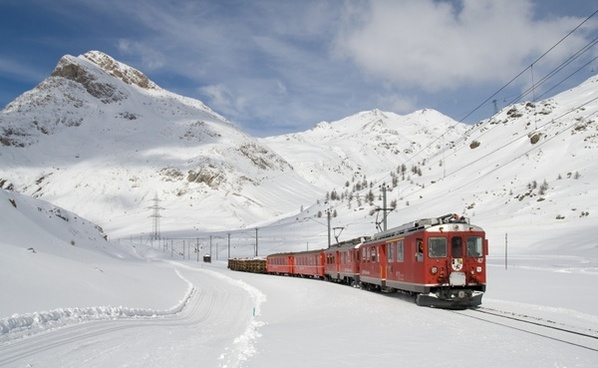 railway bernina railway lagalb