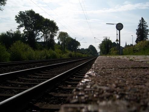 railway rails railway station railway