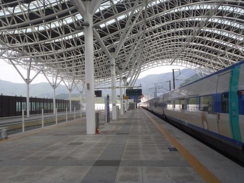 railway station korea platform
