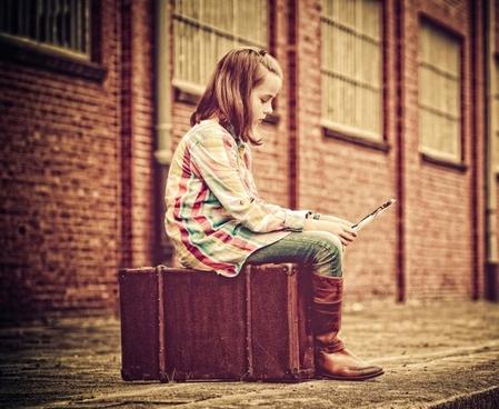 railway station luggage child