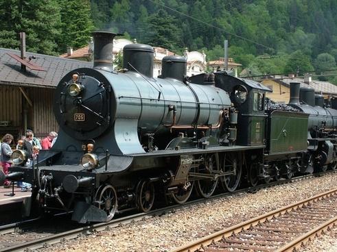 railway steam locomotive railcar