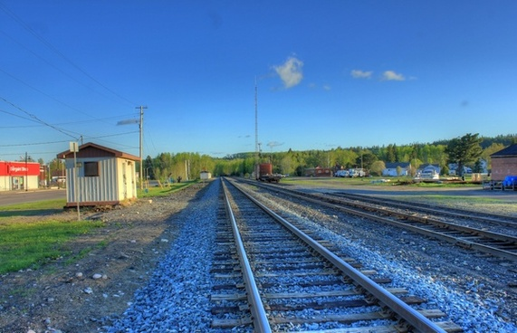 railway the other way at lake nipigon ontario canada