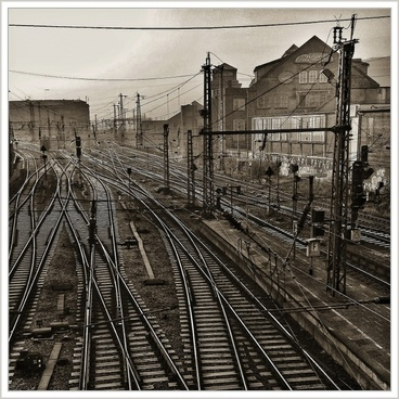 railway tracks gleise seemed
