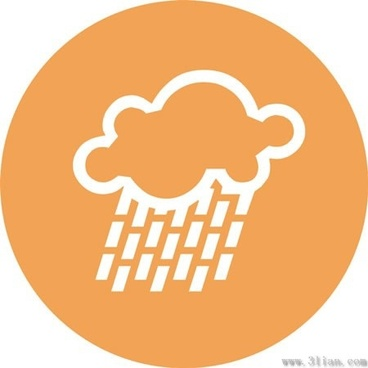 rain clouds icons vector