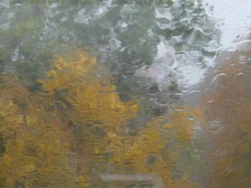 rain disc blurry