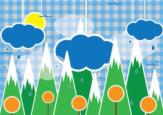 rain forest illustration