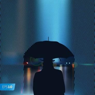 rain king background shiny vector