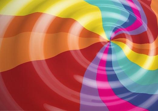 Rainbow Color Vector Background