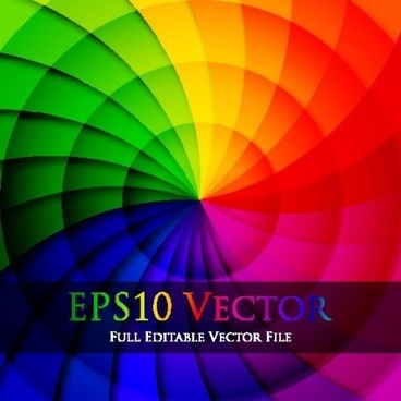 rainbow colored background art vector