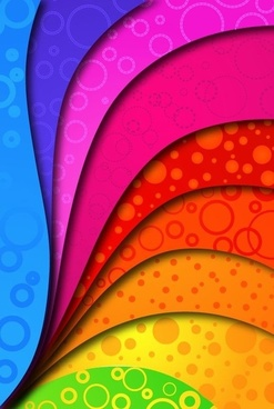 Rainbow Colors on Vector Background