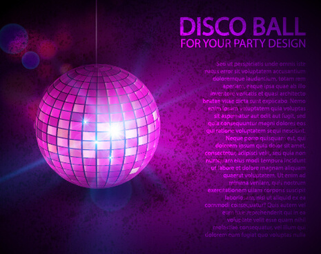 rainbow disco ball background vector