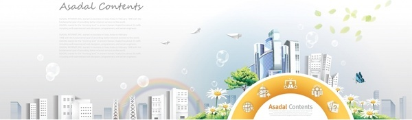 rainbow garden city community poster vector