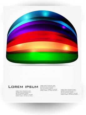 rainbow ink background vector