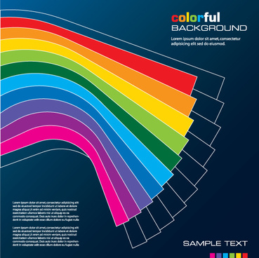 rainbow of business backgrounds vector