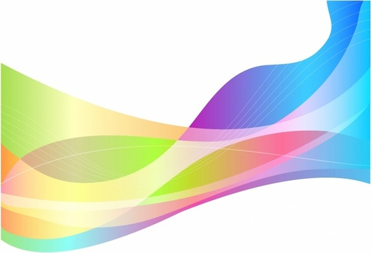 Rainbow Spectrum wave background