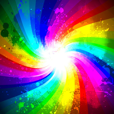 rainbow splash grunge background vector