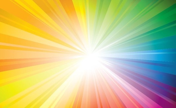 abstract background sun rays icons vivid colorful design
