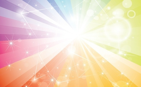 abstract background sparkling colorful rays stars burst decoration