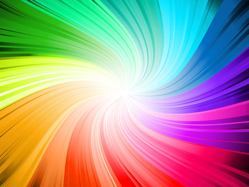 rainbow swirls vector background