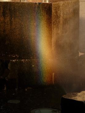 rainbow water back light