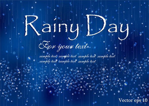 rainy day concept background