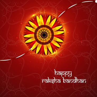 raksha bandhan artistic colorful card vector background