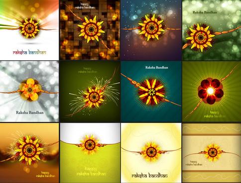 raksha bandhan beautiful celebration 12 collection presentation colorful background