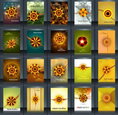 raksha bandhan beautiful celebration 25 brochure collection presentation reflection design